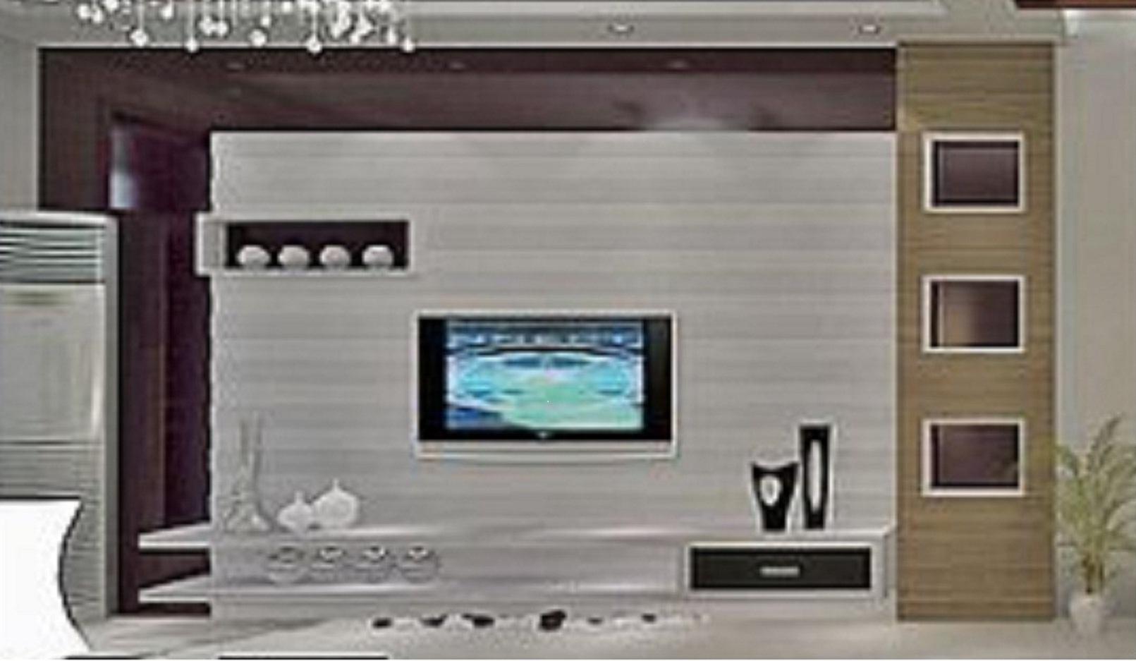 请以这个电视背景墙图怎么做?