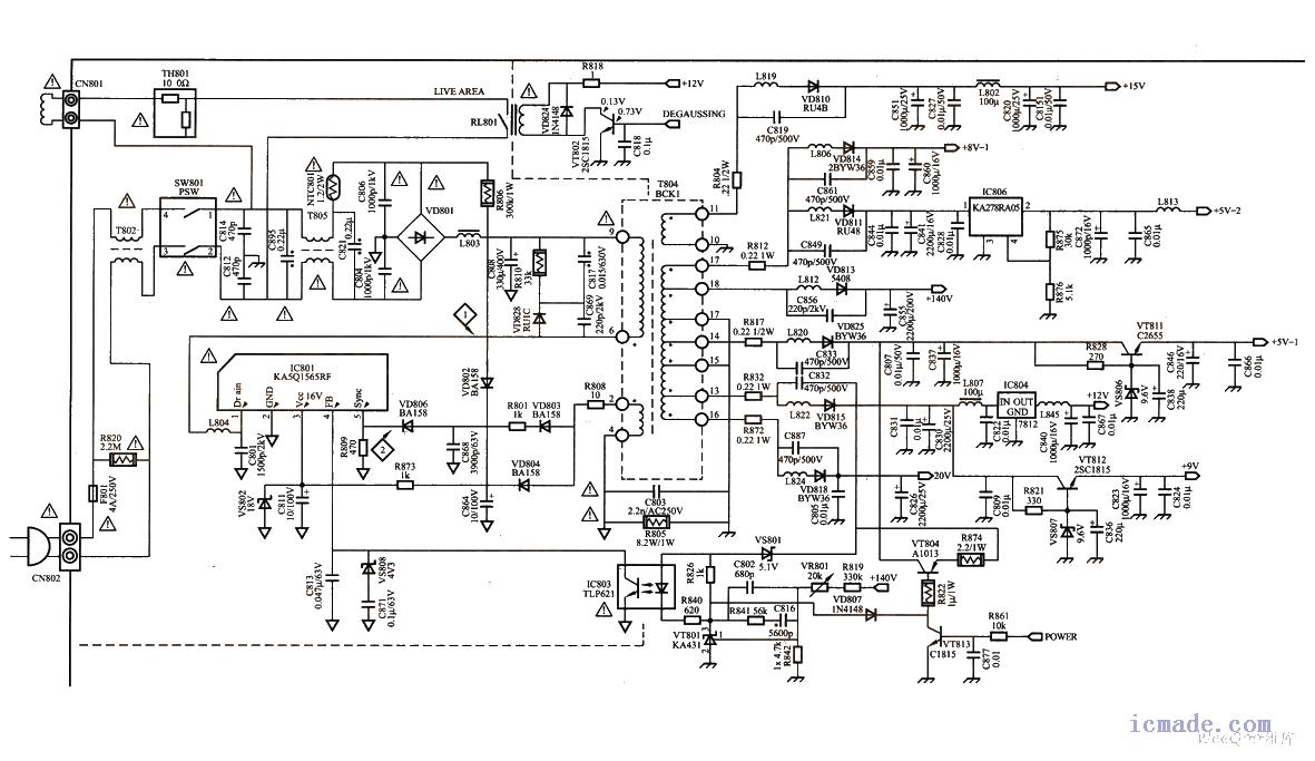 创维电视6d950机芯用什么型号电源快