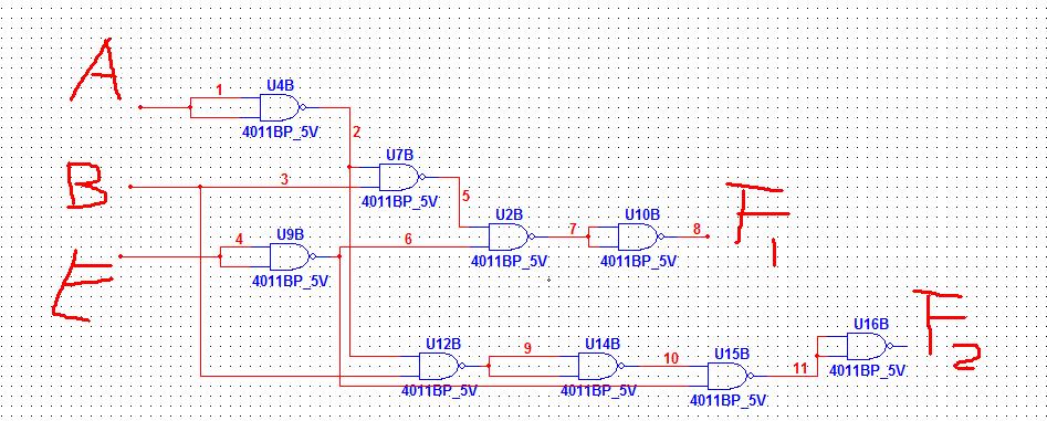 用与非门设计一个十字路口交通信号灯控制电路图片