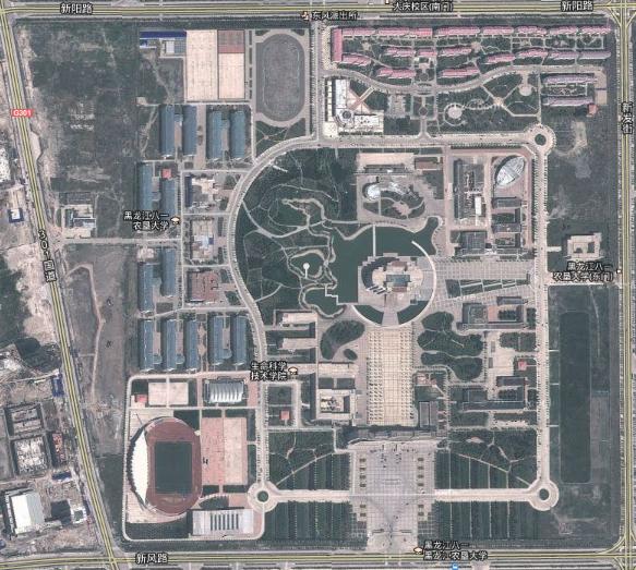 求黑龙江八一农垦大学平面图