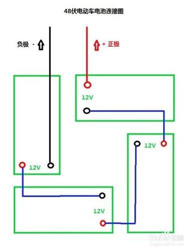 有电动车48v电池接线图吗?