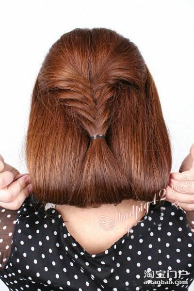 短发留长发怎样扎辫子才好看 短发型扎辫子照片大全