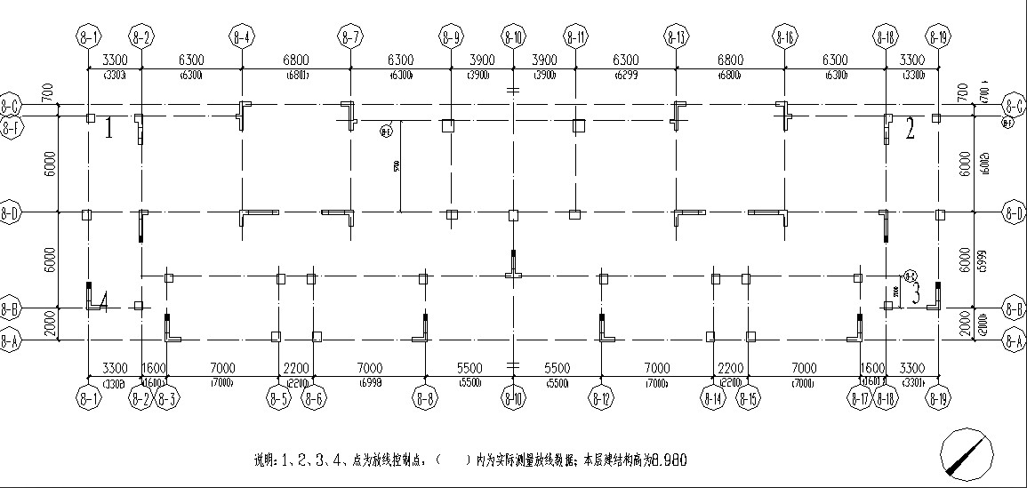 建筑里的楼层放线记录表的放线简图怎么画图片