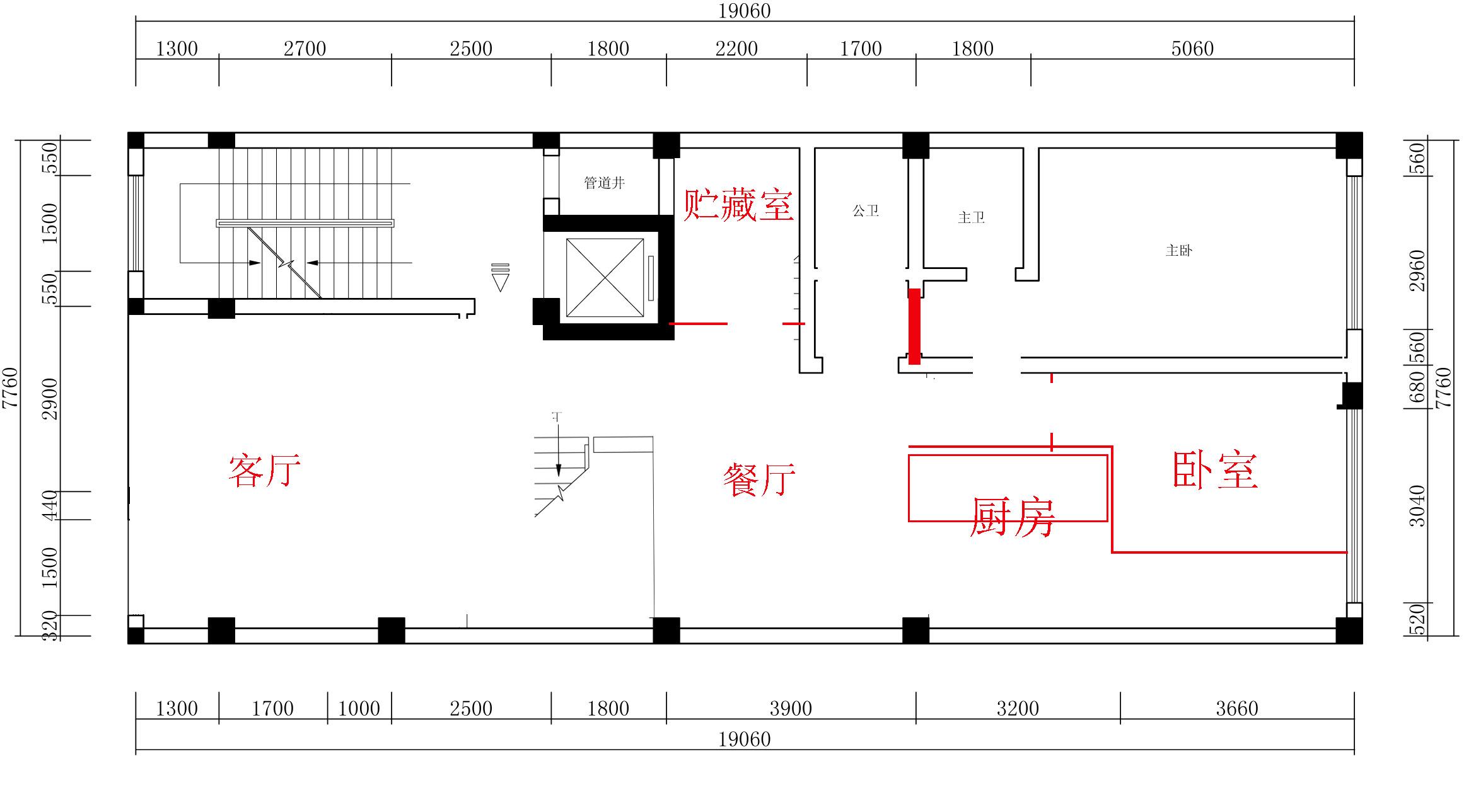 房屋结构设计装修 复式楼 5楼客厅上空挑空!或者有其他更好的方案吗?