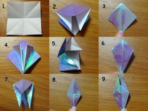 千纸鹤最简单的折法,最好有图,有视频.
