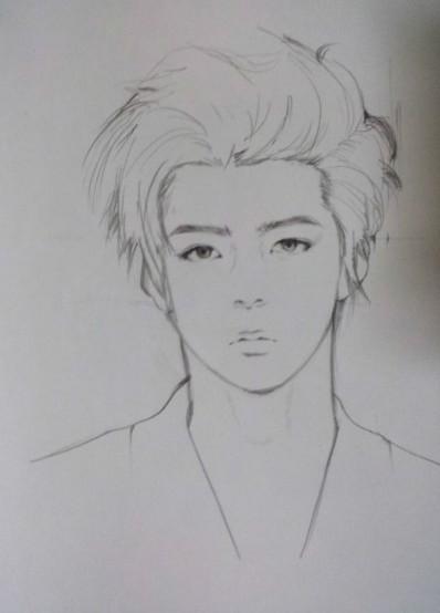 exo世勋比较简单的素描画,求多几张