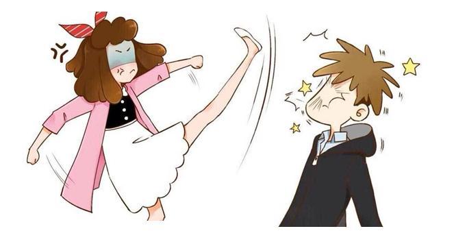 情侣头像两张一对一男一女卡通的,拼起来女的再打男的
