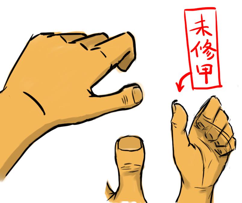 大拇指宽扁图片