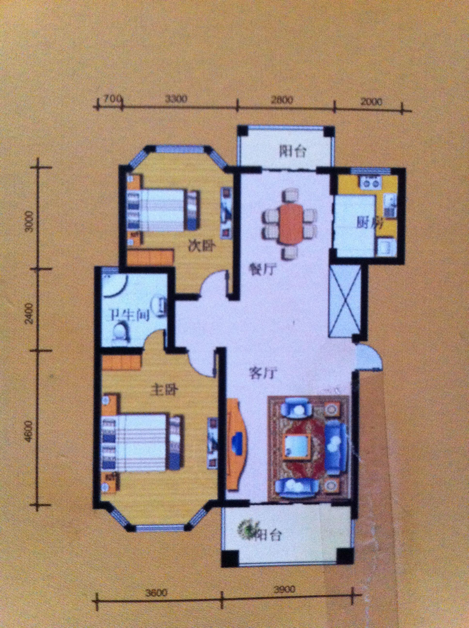 两房改三房 这是图纸 怎样设计比较合理图片