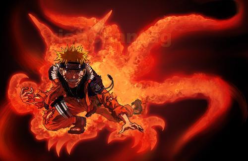 求火影忍者鸣人九尾模式的帅图