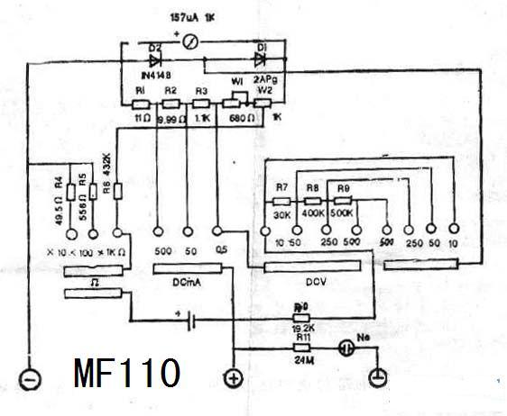 mf110万用表的电路图