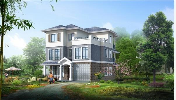 在老家农村盖房子,求两层或三层的别墅图纸.谢谢图片