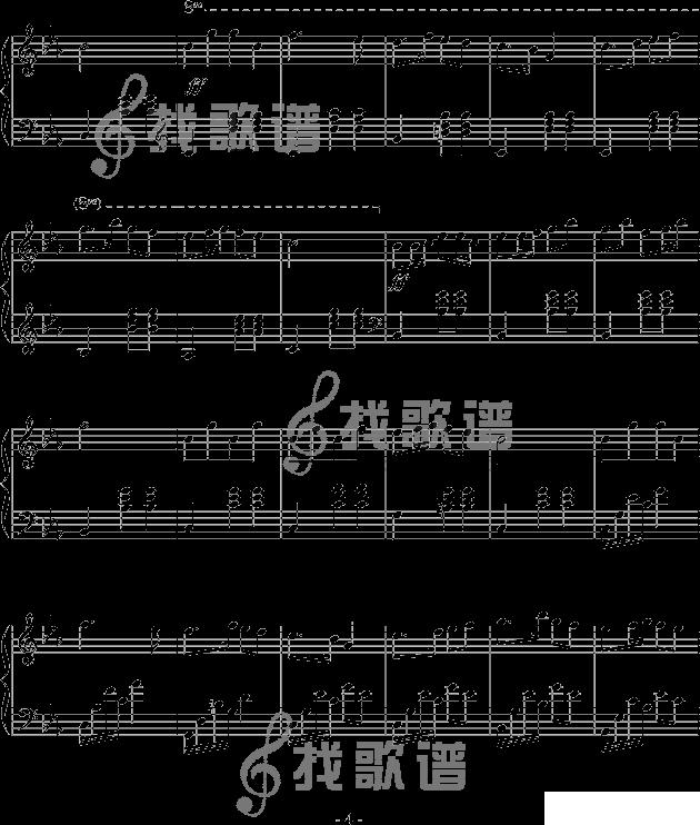 有木有钢琴瑶族舞曲的五线谱啊! 我是给小提琴伴奏的