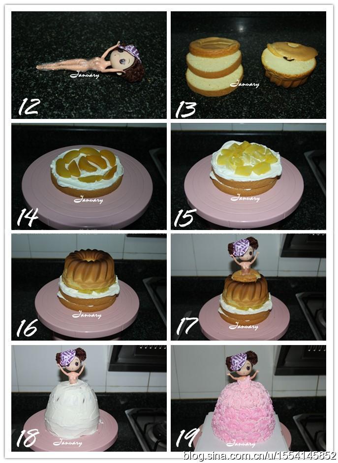 迷糊娃娃生日蛋糕的做法步骤图,怎么做好吃