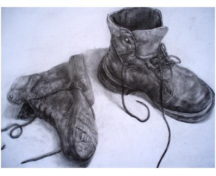 怎样用素描画鞋子图片