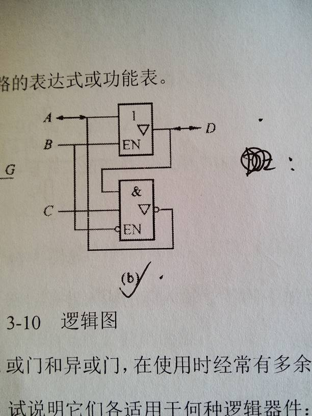 数字逻辑电路问题啊