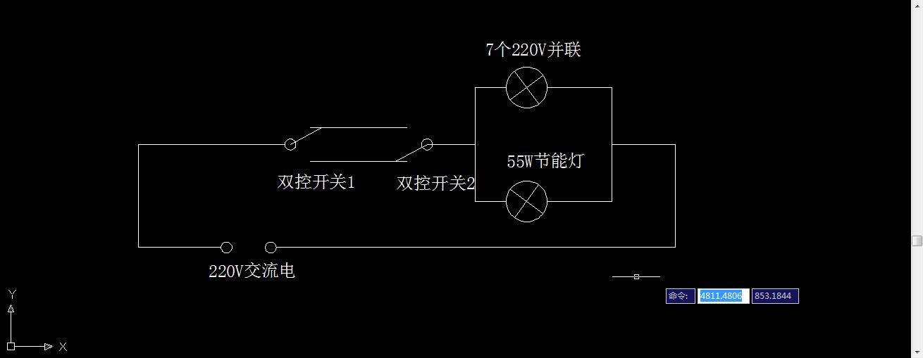 双控开关控制一组灯的接线方式