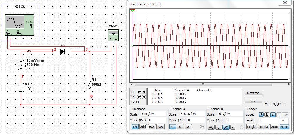 multisim示波器的问题!