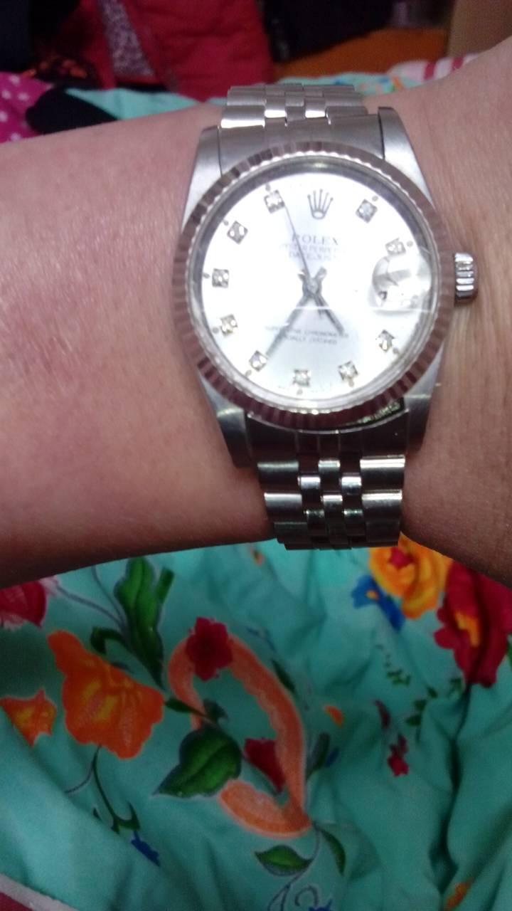 帮我看下老款女劳力士!以前抵押的一块表!图片