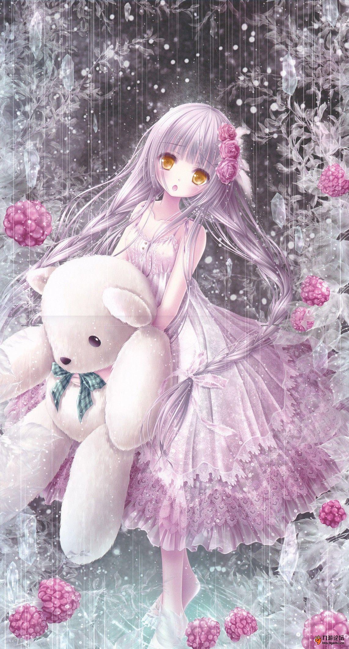 求这幅动漫紫发金瞳少女的高清大图