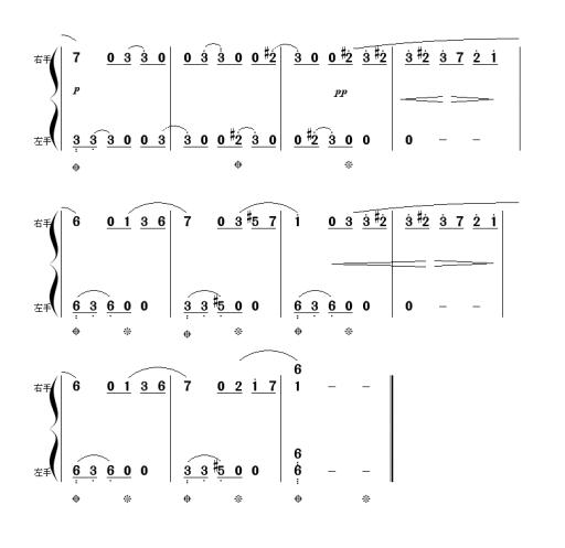 献给爱丽丝钢琴简谱单手的适合初学者的