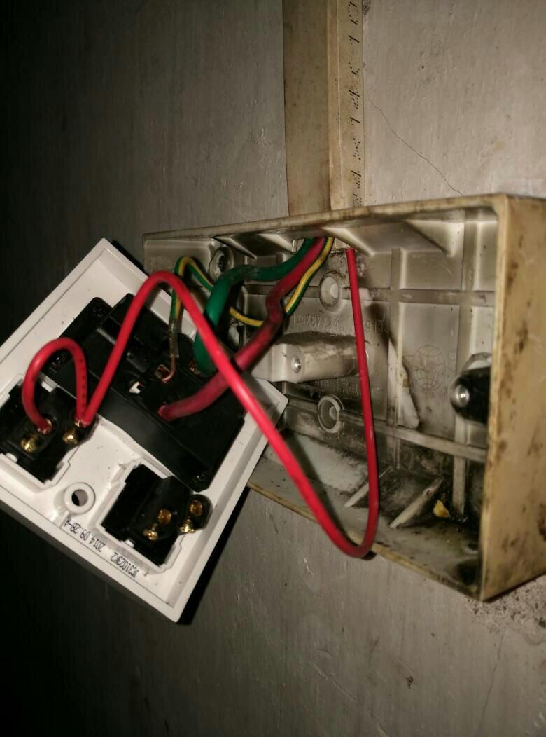 两开五孔插座接线图