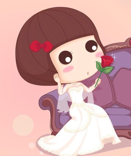 一个可爱穿婚纱的卡通娃娃叫啥