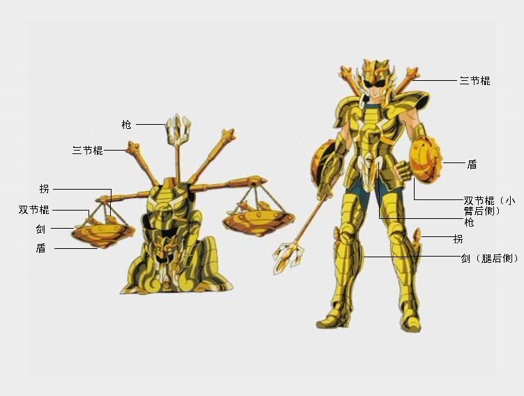 《圣斗士星失》中天平圣衣能分解多少种武器