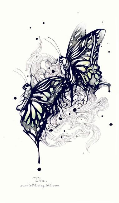 黑白画创意简单手绘
