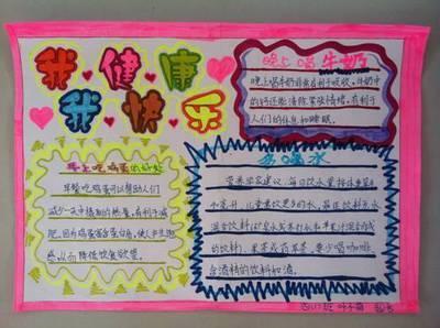 快乐积极的手抄报怎么写四年级