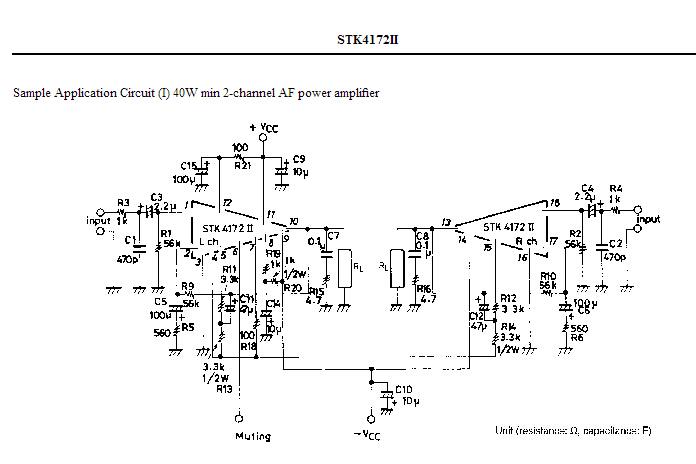 求带stk4172厚膜的索尼拆机功放板接线方式