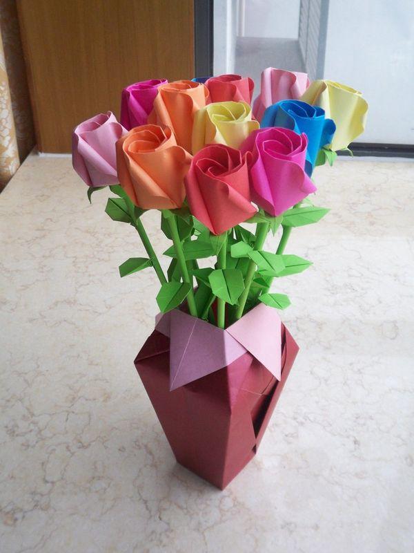 玫瑰花的叶子怎么折?