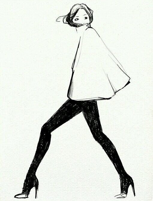 求此图的整图(女生 高跟鞋 黑白 手绘)