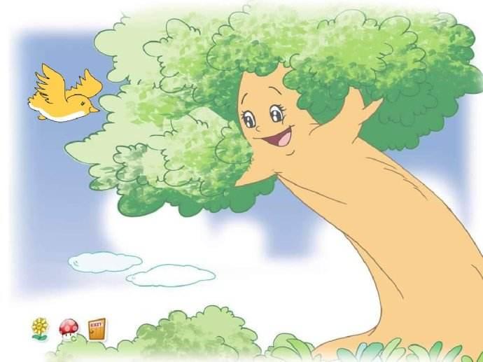 歌曲为单段体结构,休止符的运用生动的表现了大树妈妈对小鸟的深厚的