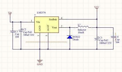 选用钽电容可以吗? 我按照典型电路图画的,c1和c3能小点吗?