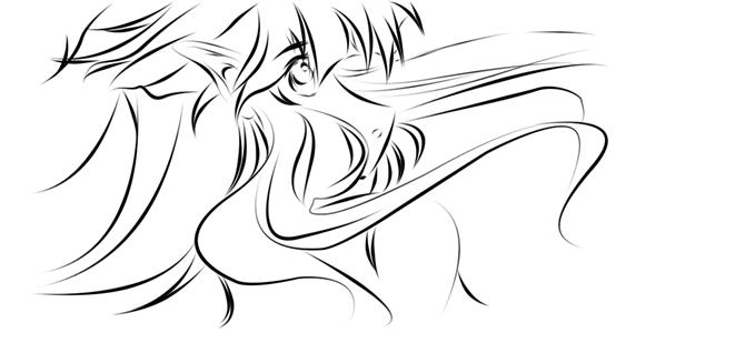 手绘卡通人物 头发怎么画 求图