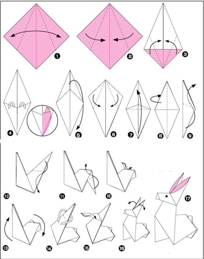 怎么折立体兔子,兔子的折法图解分享图片