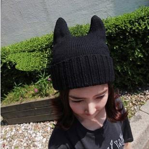 求猫耳朵帽子 毛线编织图解