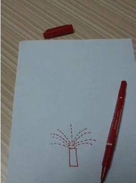 烟花怎么画
