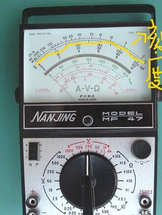 万用表测量电阻如何读数
