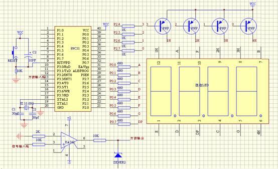 放大整形电路的设计原理图,元器件参数