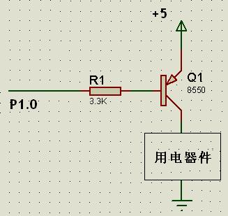 通常可使用pnp型的三极管来扩充输出电流. 电路如图所示.