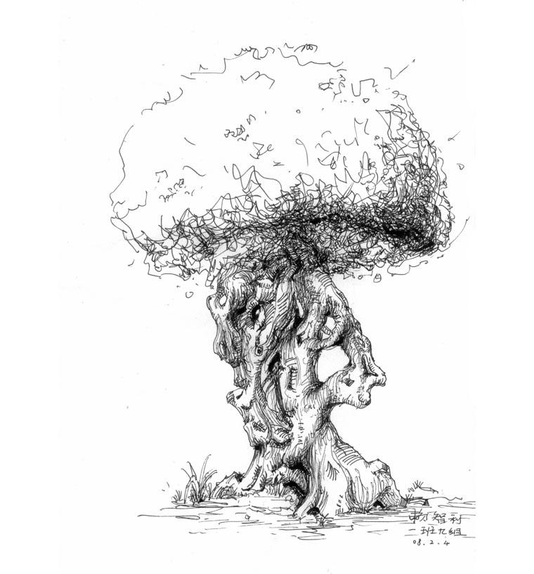 大树怎么画