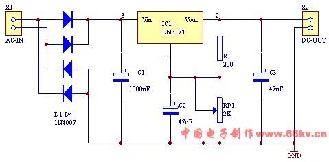 这个电路图里面的可调电阻rp1具体怎么接线我的可调电阻是有一边两个