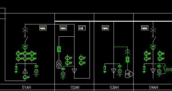 简述高压开关柜的内部结构,并画出一次接线图