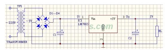 求电容降压电源电路图