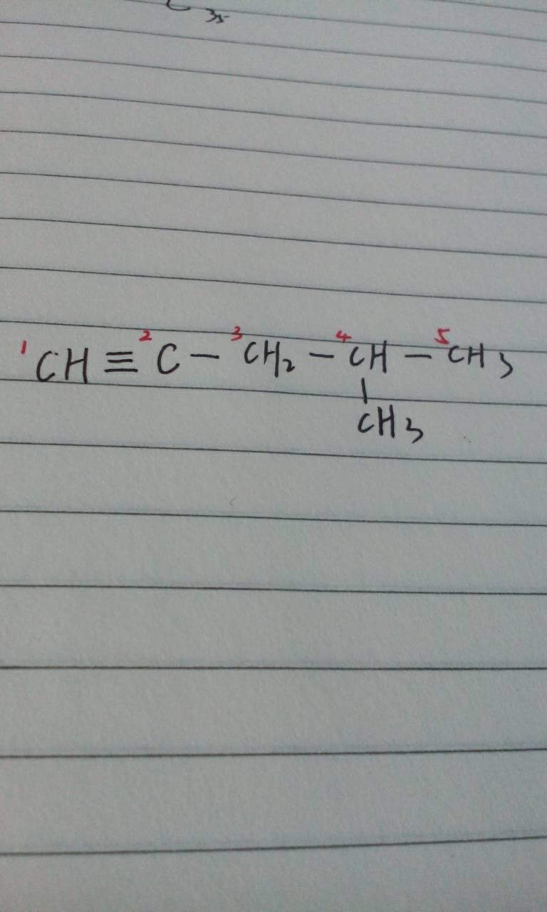 4-甲基-1戊炔结结构简式怎么写