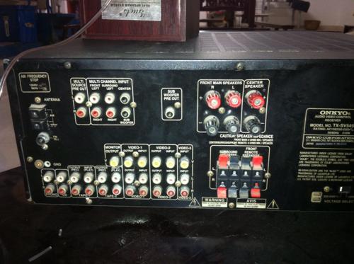 安乔tx-sv545功放机怎么连接电视,dvd和音响
