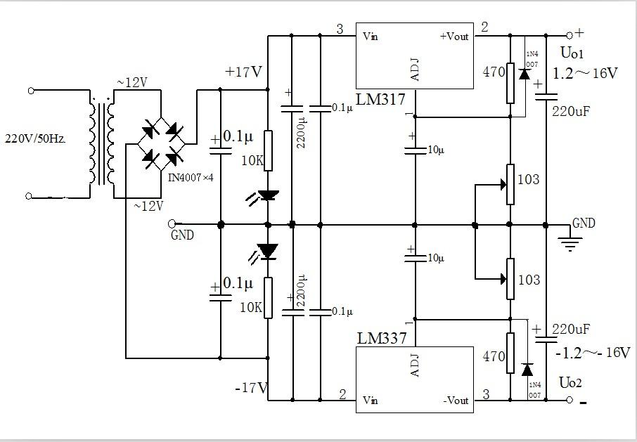以下直流稳压电源电路图,为什么每当加上负载稳压管就