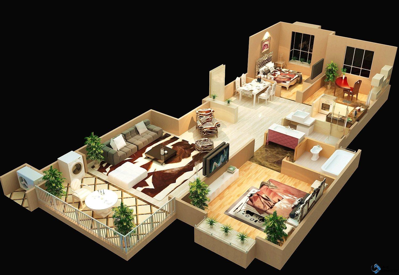 我没什么基础,想自已设计一个房屋立体图,这个效果,用什么软件好设计图片